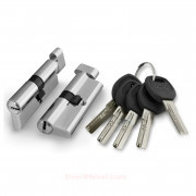 Цилиндровый механизм ключ/фиксатор A202/60 mm SN Матовый никель