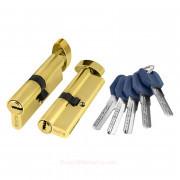 Цилиндровый механизм ключ/фиксатор Z402/60 mm PB Латунь