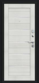 Стальная дверь Техно Kale Букле чёрное/Bianco Veralinga
