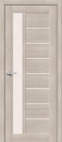 Межкомнатная дверь с экошпоном Порта-27 Cappuccino Veralinga