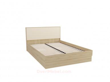 Кровать с подъемным механизмом Сопрано Beige/Дуб сонома для ортопедического основания 1,6м