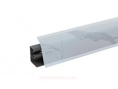 Плинтус для столешницы пластиковый АР-740 Гранит белый