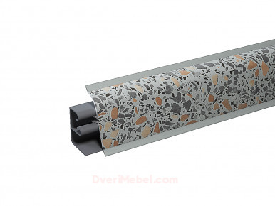 Плинтус для столешницы пластиковый АР-740 Гранитный микс (1218)