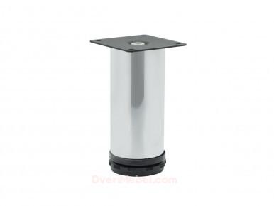 Опора мебельная круглая ОМ-220 регулируемая Хром