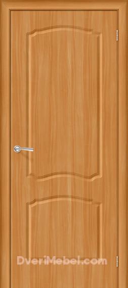 Межкомнатная дверь с ПВХ-пленкой Альфа, миланский орех