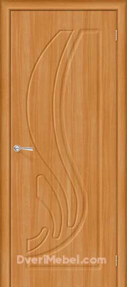 Межкомнатная дверь с ПВХ-пленкой Лотос, миланский орех