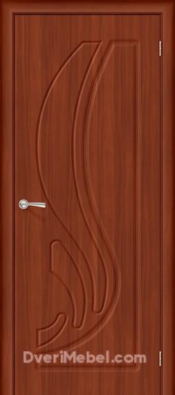 Межкомнатная дверь с ПВХ-пленкой Лотос, итальянский орех