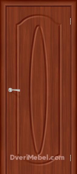Межкомнатная дверь с ПВХ-пленкой Орбита Плюс, итальянский орех