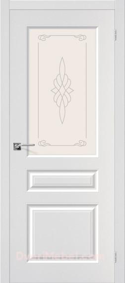 Межкомнатная дверь с пленкой ПВХ Статус-15 Белый