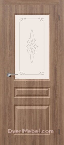 Межкомнатная дверь с пленкой ПВХ Статус-15 Шимо темный