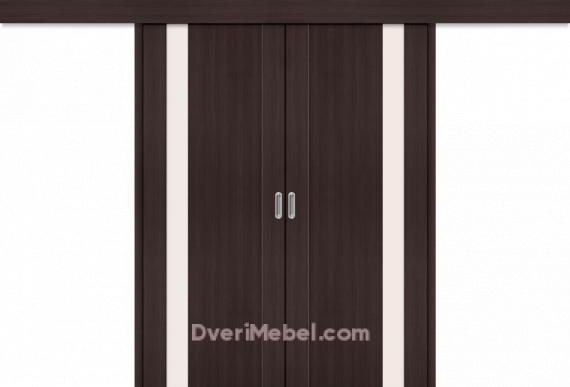 Межкомнатная двойная дверь-купе Порта-11 Wenge Veralinga