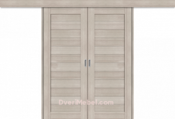 Межкомнатная двойная дверь-купе Порта-21 Cappuccino Veralinga