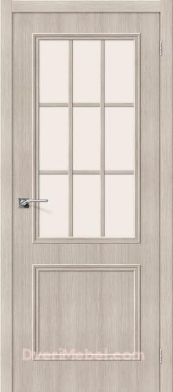 Межкомнатная дверь с экошпоном Симпл-13 Cappuccino Veralinga