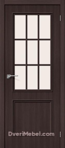 Межкомнатная дверь с экошпоном Симпл-13 Wenge Veralinga