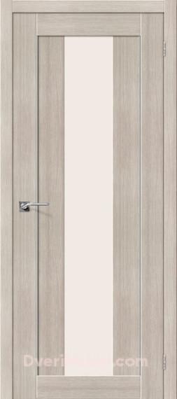 Межкомнатная дверь с экошпоном Порта-25 alu Cappuccino Veralinga