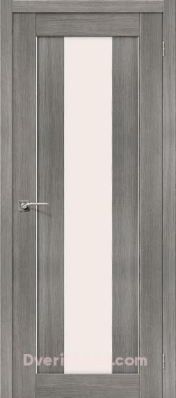Межкомнатная дверь с экошпоном Порта-25 alu Grey Veralinga