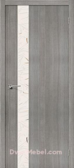 Межкомнатная дверь с экошпоном Порта-51 SA Grey Crosscut