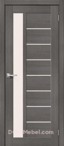 Межкомнатная дверь с экошпоном Порта-27 Grey Veralinga