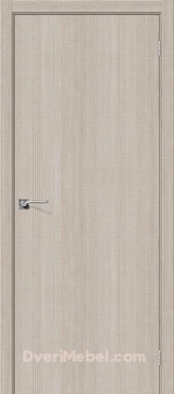 Межкомнатная дверь с экошпоном Порта-50 Cappuccino Crosscut
