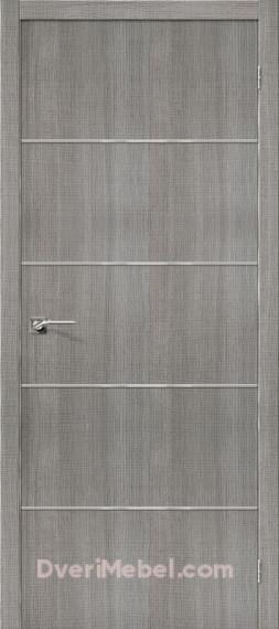 Межкомнатная дверь с экошпоном Порта-50А-6 Grey Crosscut
