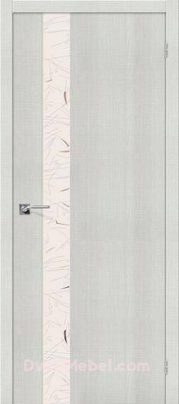 Межкомнатная дверь с экошпоном Порта-51 SA Bianco Crosscut