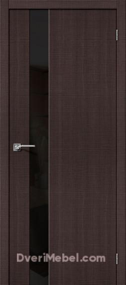 Межкомнатная дверь с экошпоном Порта-51 BS Wenge Crosscut