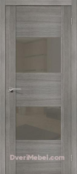 Межкомнатная дверь с экошпоном VG2 S Grey Veralinga