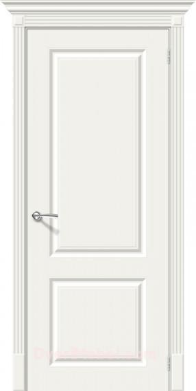 Межкомнатная окрашенная дверь Скинни-12 Whitey