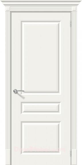 Межкомнатная окрашенная дверь Скинни-14 Whitey
