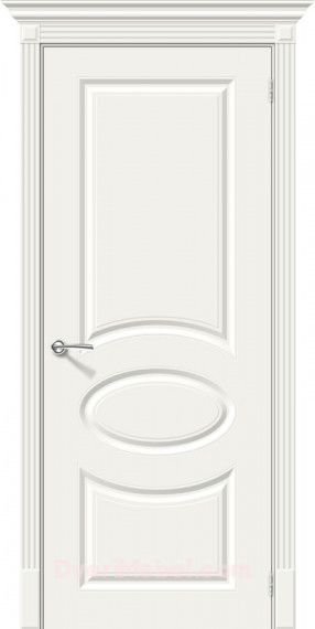 Межкомнатная окрашенная дверь Скинни-20 Whitey