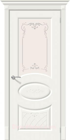 Межкомнатная окрашенная дверь Скинни-21 Аrt  Whitey