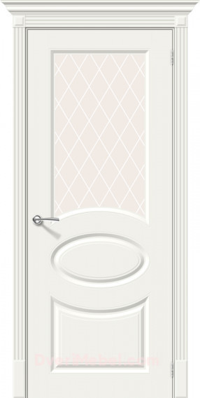 Межкомнатная окрашенная дверь Скинни-21 Whitey