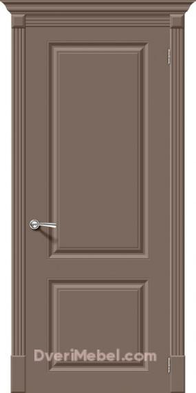 Межкомнатная окрашенная дверь Скинни-12 Mocca