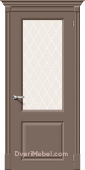Межкомнатная окрашенная дверь Скинни-13 Mocca