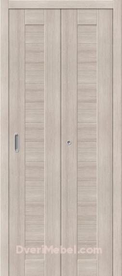 Межкомнатная складная дверь с экошпоном Порта-21 Cappuccino Veralinga
