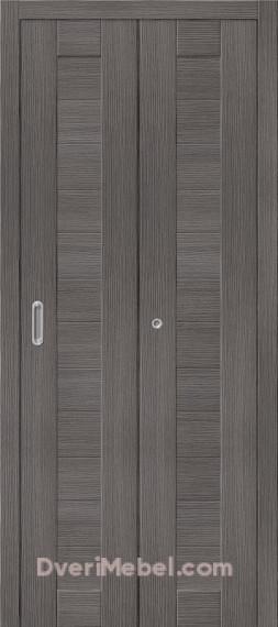 Складная дверь с Экошпоном Порта-21 Grey Veralinga