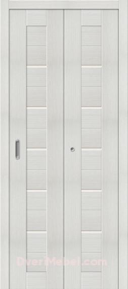 Складная дверь с Экошпоном Порта-22 Bianco Veralinga