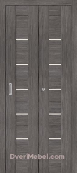 Складная дверь с Экошпоном Порта-22 Grey Veralinga