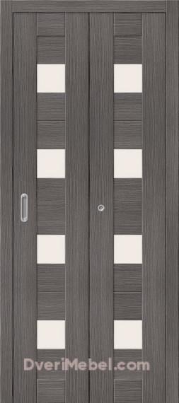 Складная дверь с Экошпоном Порта-23 Grey Veralinga