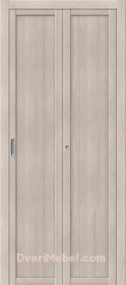 Межкомнатная складная дверь с Экошпоном Твигги M1 Cappuccino Veralinga