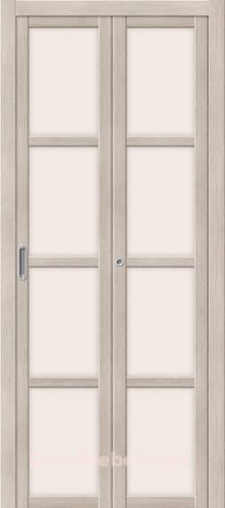 Межкомнатная складная дверь с Экошпоном Твигги V4 Cappuccino Veralinga