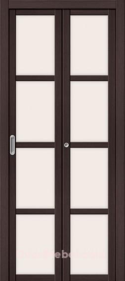 Складная дверь с Экошпоном Твигги V4 Wenge Veralinga