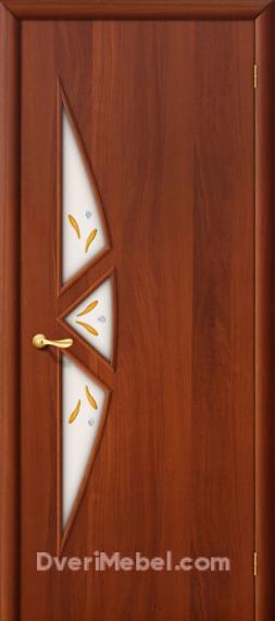 Межкомнатная ламинированная дверь 15Ф итальянский орех