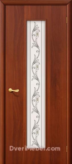 Межкомнатная ламинированная дверь 24Х итальянский орех