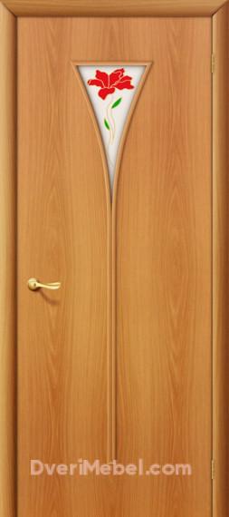 Межкомнатная ламинированная дверь 3П миланский орех