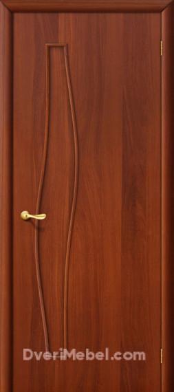 Межкомнатная ламинированная дверь 6Г итальянский орех