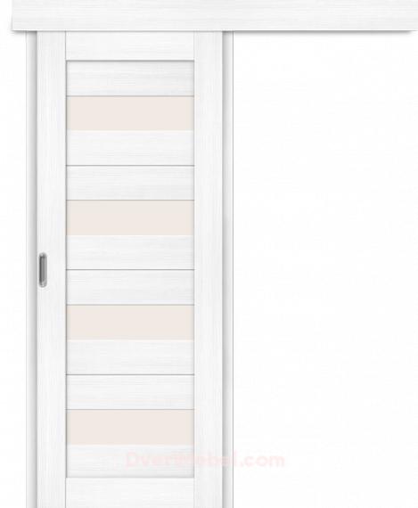 Межкомнатная дверь-купе Порта-23 Snow Veralinga