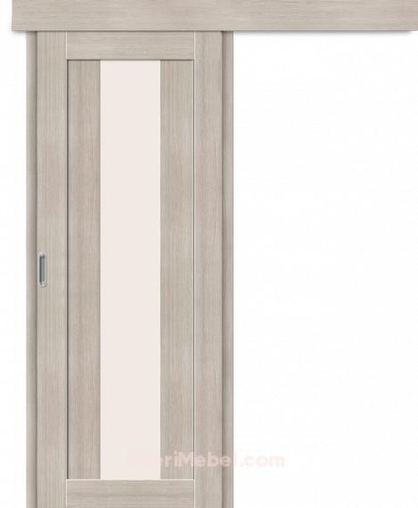 Межкомнатная дверь-купе Порта-25 alu Cappuccino Veralinga