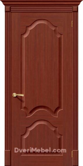 Межкомнатная шпонированная глухая дверь Афина Макоре