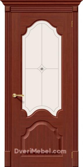 Межкомнатная шпонированная остекленная дверь Афина Макоре
